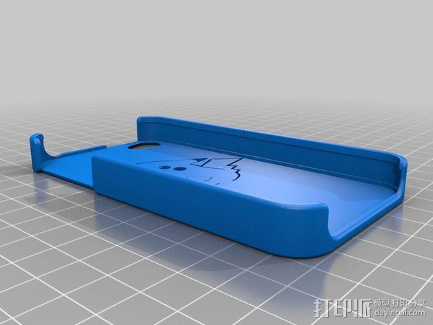 皮卡丘Iphone 4/4s 手机套 3D模型  图2