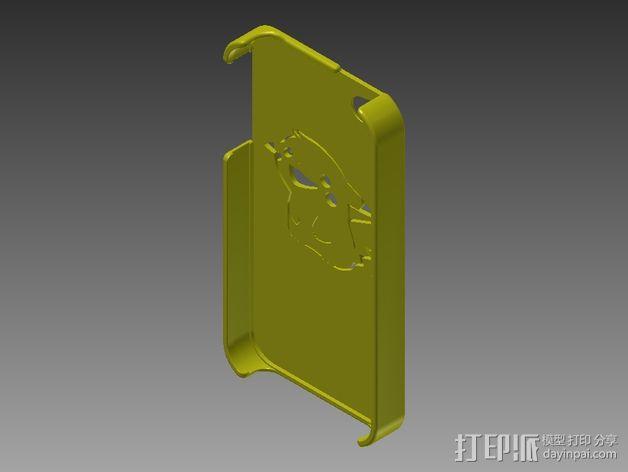 皮卡丘Iphone 4/4s 手机套 3D模型  图3