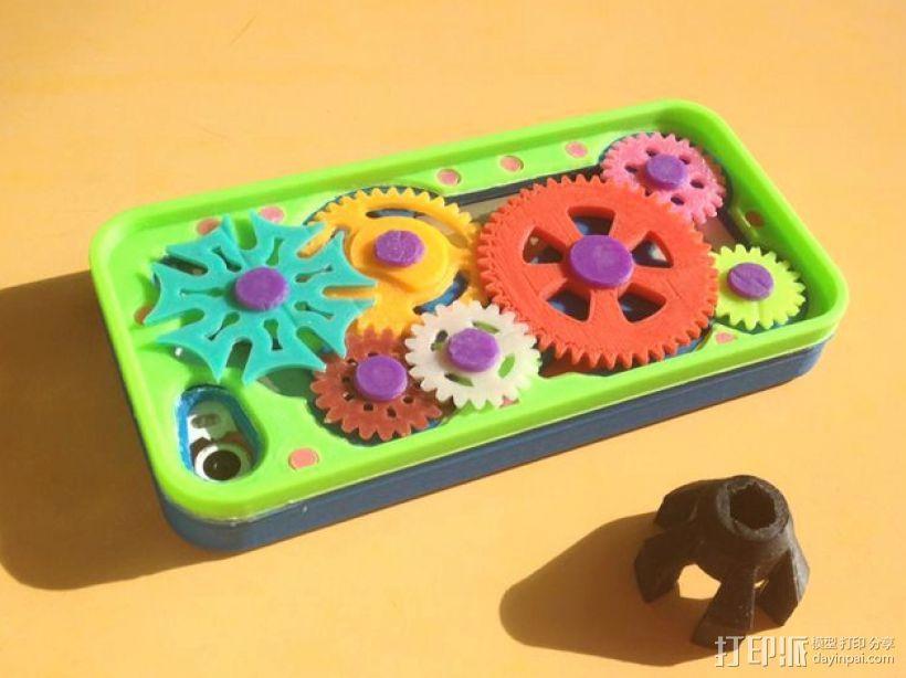 齿轮iPhone5手机外壳 3D模型  图1