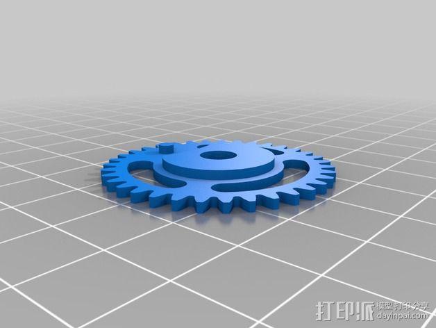 齿轮iPhone5手机外壳 3D模型  图3