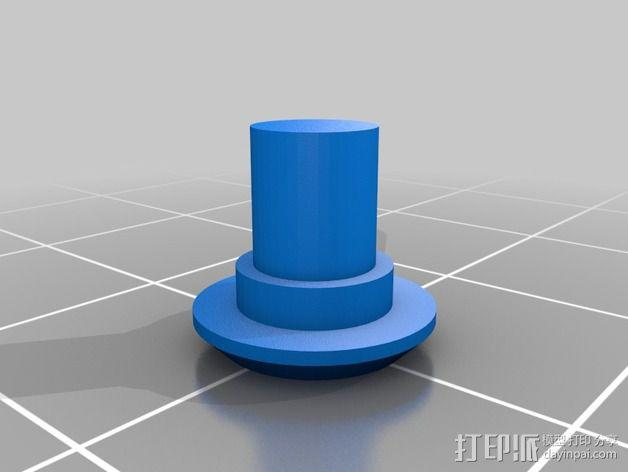 齿轮iPhone5手机外壳 3D模型  图4