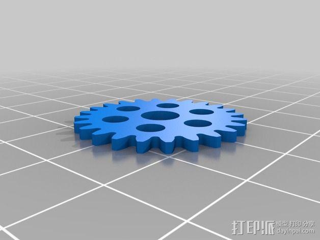 齿轮iPhone5手机外壳 3D模型  图15