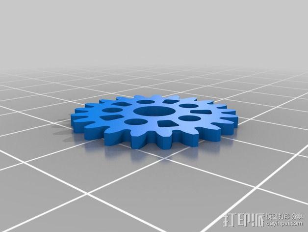 齿轮iPhone5手机外壳 3D模型  图14
