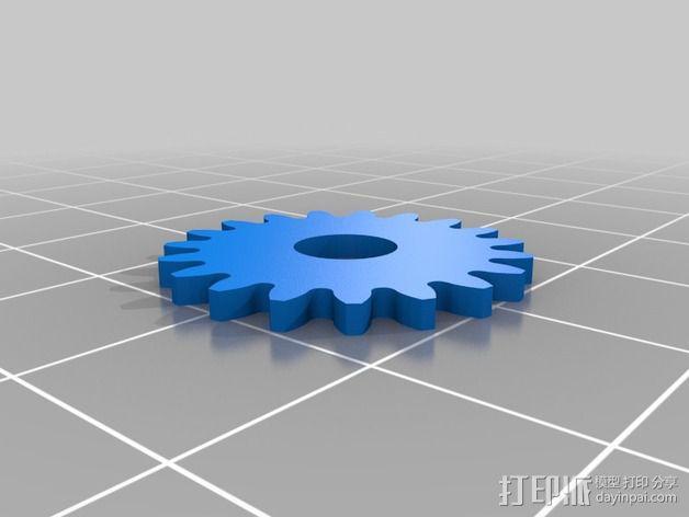 齿轮iPhone5手机外壳 3D模型  图17