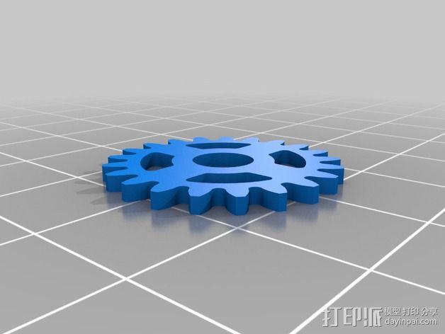 齿轮iPhone5手机外壳 3D模型  图18
