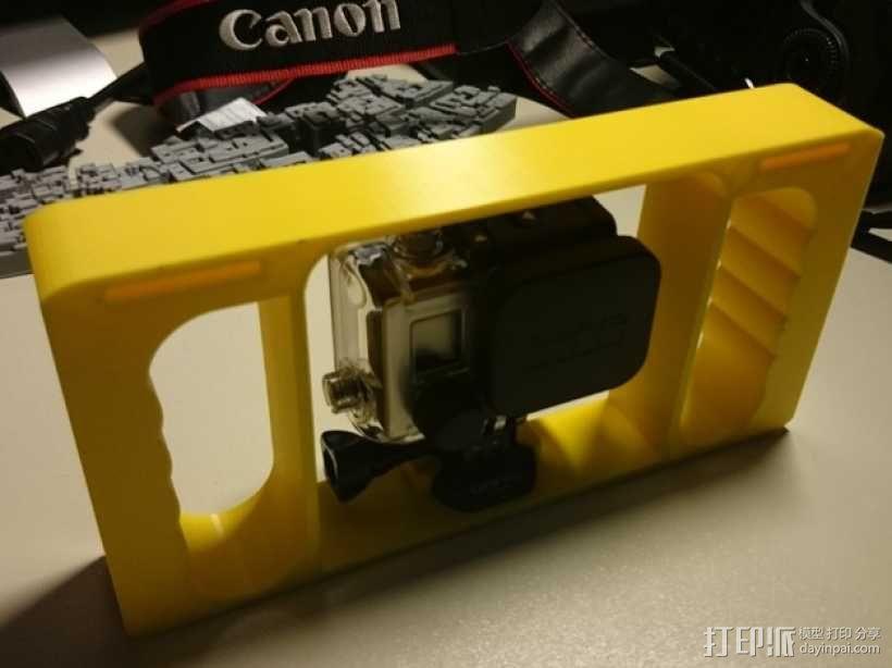 GoPro相机潜水外壳 3D模型  图1