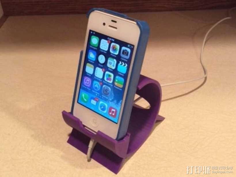 iPhone 4, 4s, & 5手机座 3D模型  图4