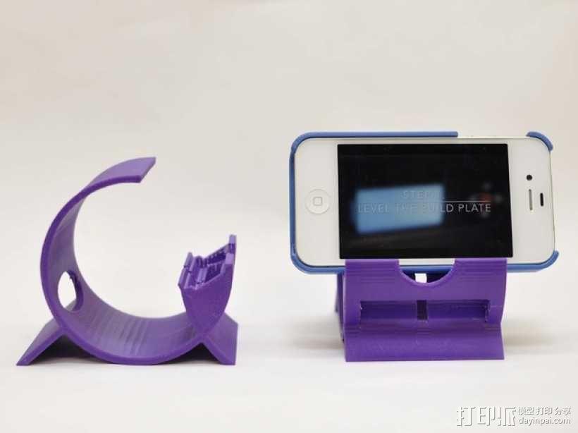 iPhone 4, 4s, & 5手机座 3D模型  图3