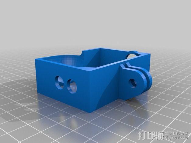 Gopro 3相机保护壳 3D模型  图2