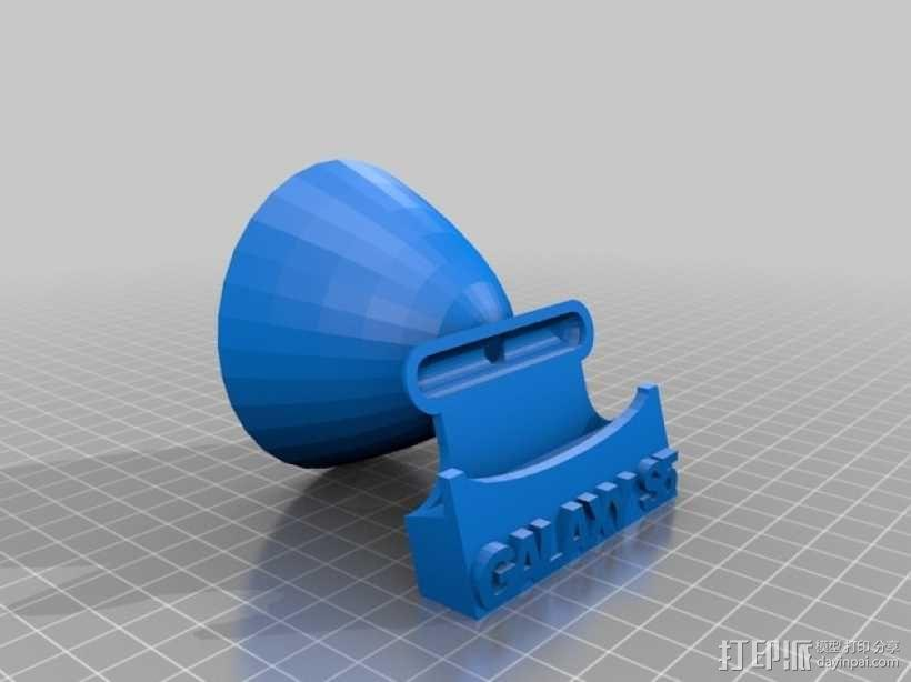 galaxy S5 扩音器手机座 3D模型  图1