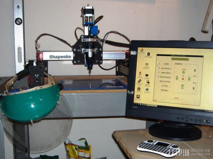 树莓派工作台 保护外壳 3D模型  图1