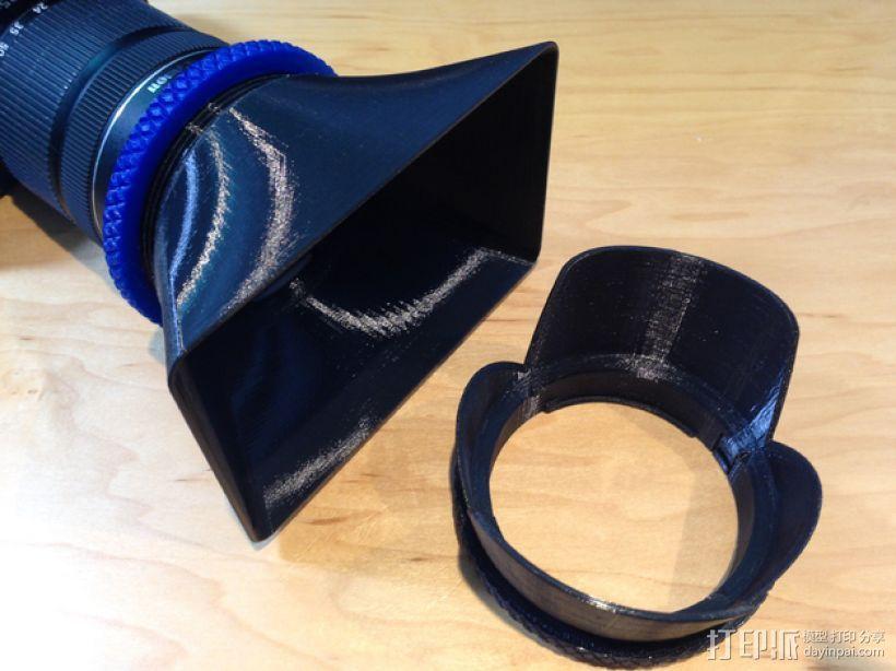 相机镜头遮光罩 3D模型  图1