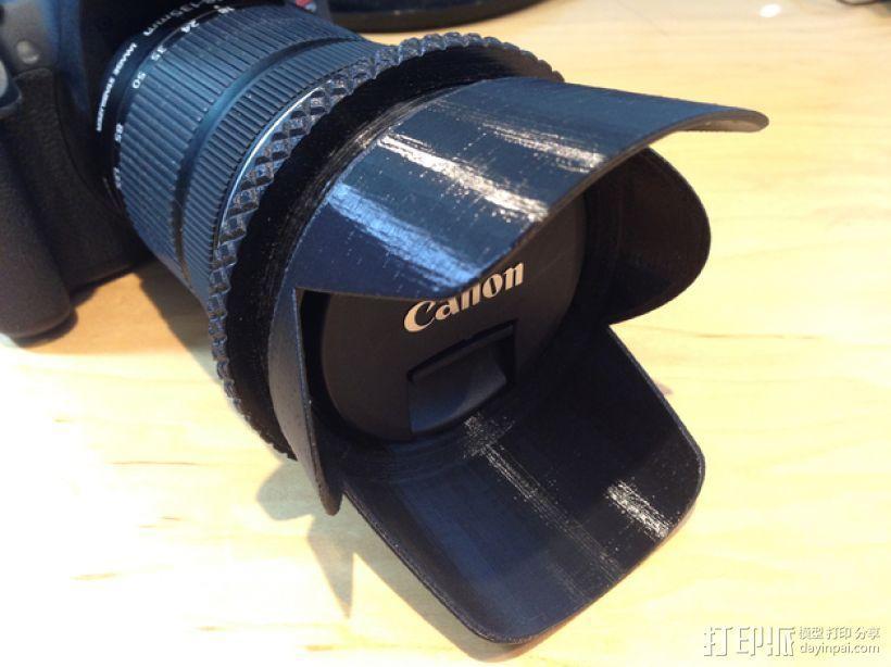 相机镜头遮光罩 3D模型  图2