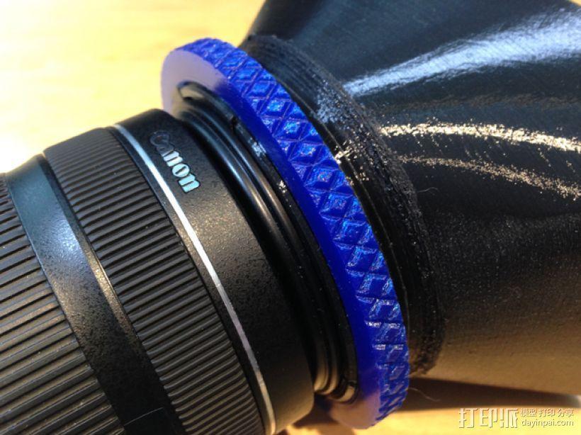 相机镜头遮光罩 3D模型  图4