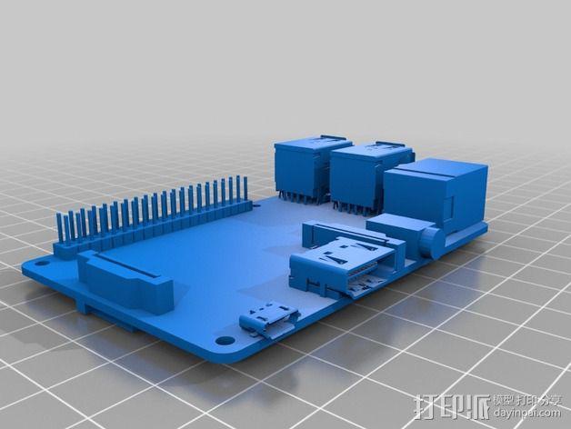 树莓派面板 3D模型  图3