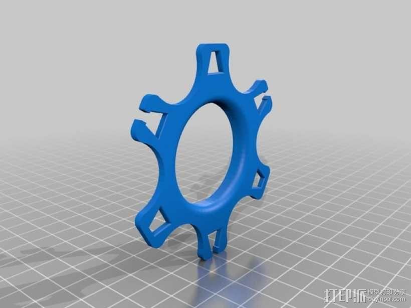 卷线器  耳机收纳器  3D模型  图5