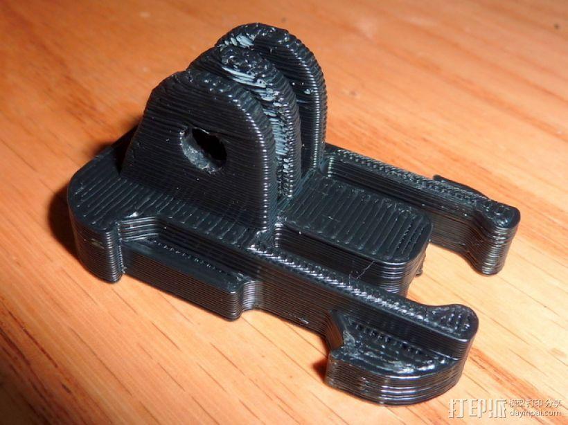 GoProHD相机支撑架 3D模型  图3