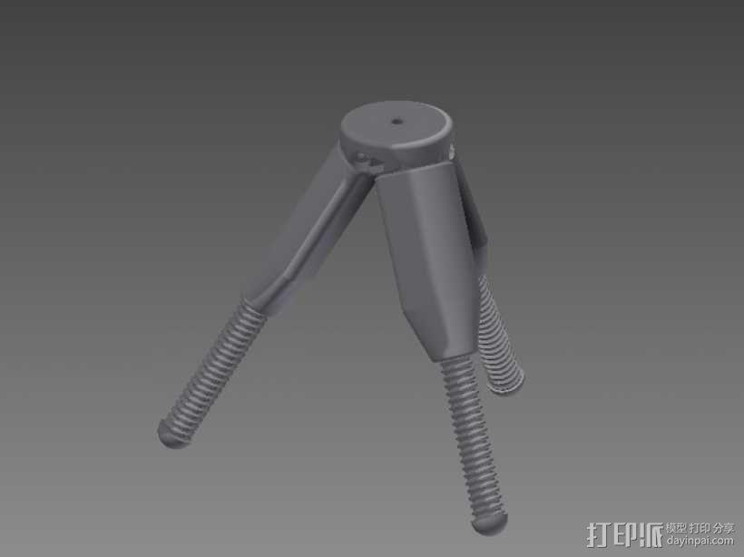 相机三脚架 3D模型  图1