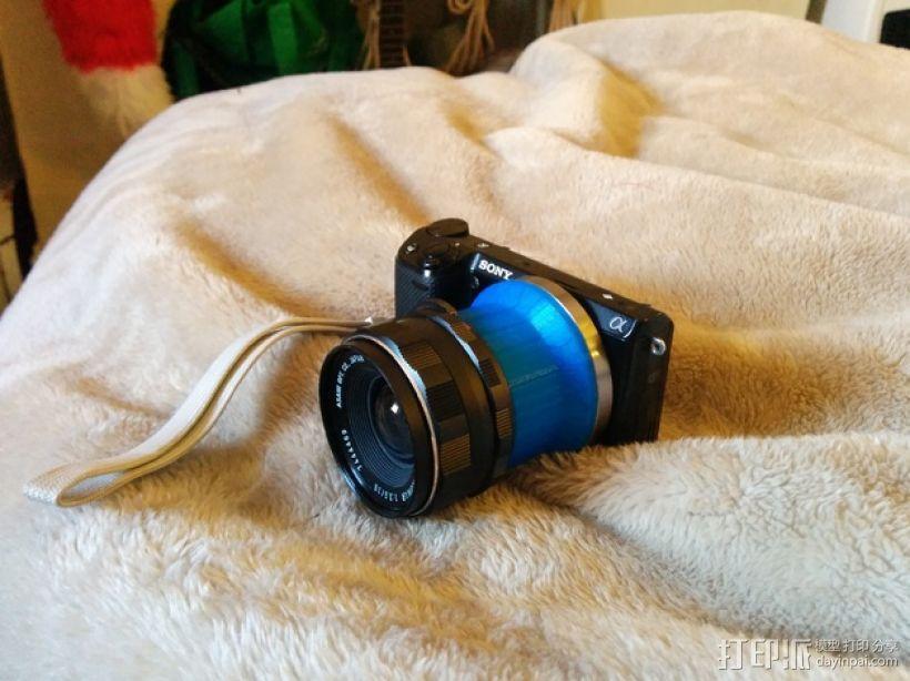 Sony NEX 索尼相机镜头适配器 3D模型  图1