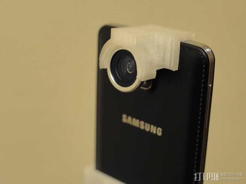 三星 Note 3手机鱼眼镜头支架 3D模型  图1