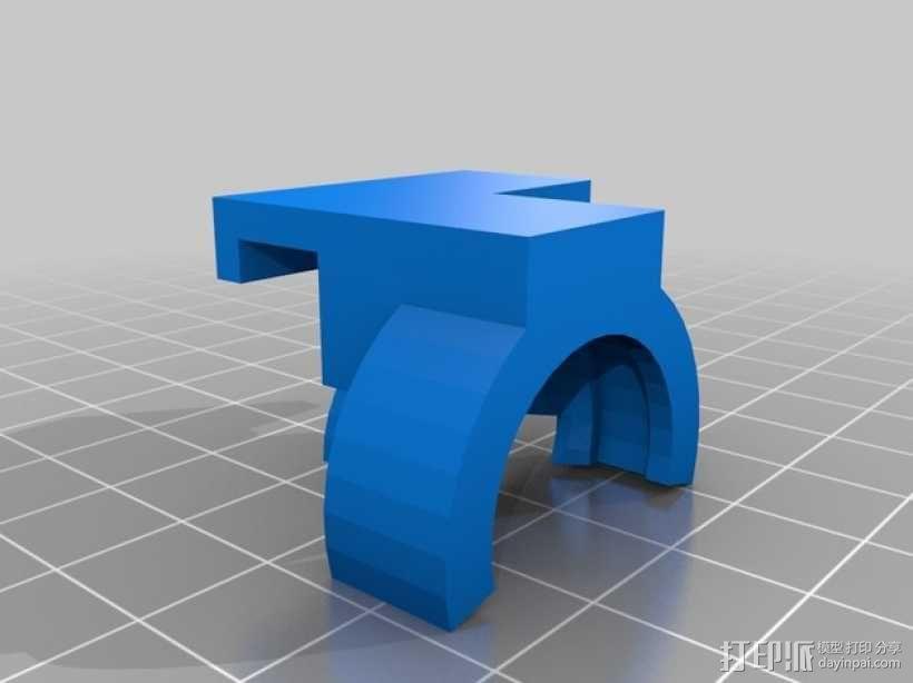 三星 Note 3手机鱼眼镜头支架 3D模型  图2