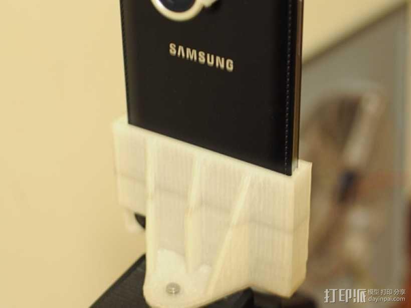 三星 Note 3手机鱼眼镜头支架 3D模型  图5
