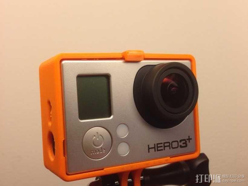 GoPro Hero 3相机保护套 3D模型  图3