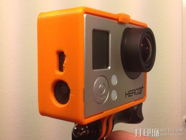 GoPro Hero 3相机保护套 3D模型  图2