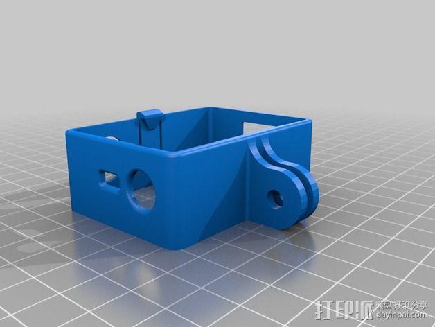 GoPro Hero 3相机保护套 3D模型  图4