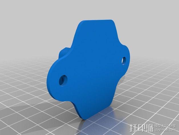 GoPro Hero相机支架安装部件 3D模型  图3