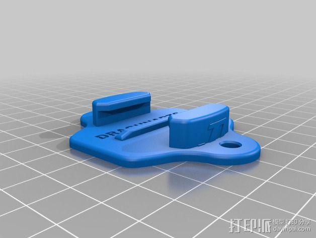 GoPro Hero相机支架安装部件 3D模型  图2