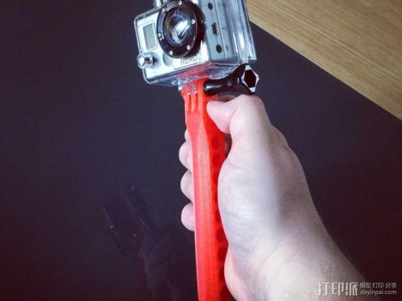 GoPro相机 手持式自拍杆 3D模型  图1