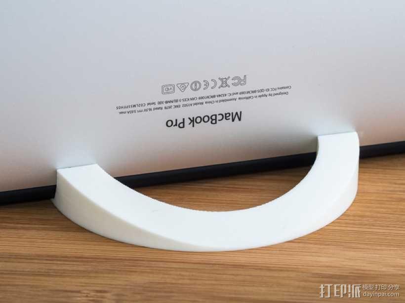 Macbook Pro电脑立式支架 3D模型  图1