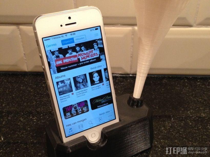 Iphone 4, 4S, 5 ,5s手机扩音器支架 3D模型  图7