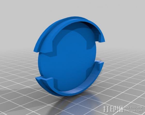SLR Camera相机镜头盖 3D模型  图3