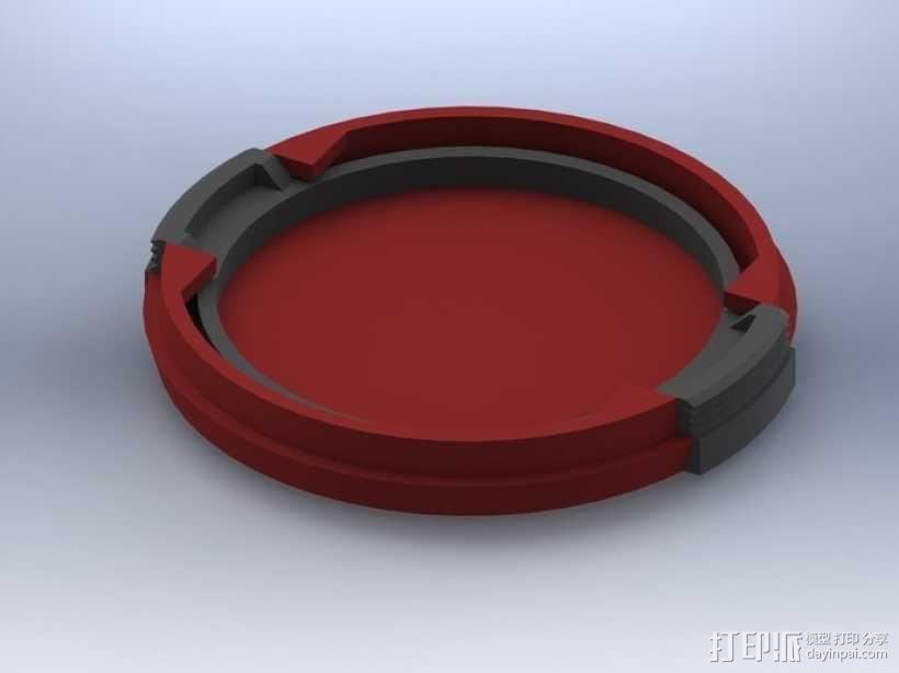 SLR Camera相机镜头盖 3D模型  图1