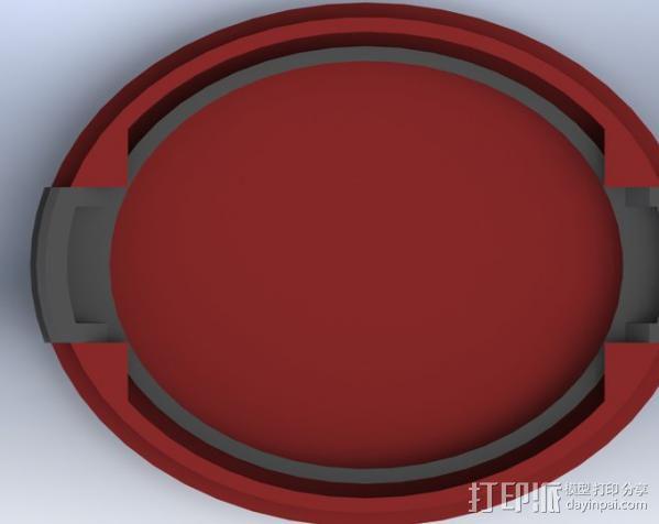 SLR Camera相机镜头盖 3D模型  图5
