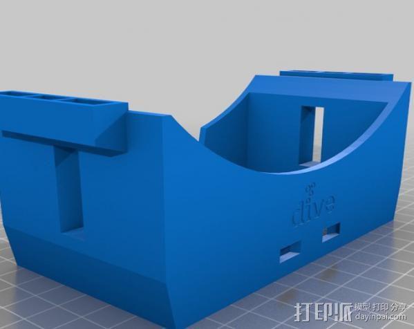 谷歌纸盒 虚拟现实护目镜 3D模型  图3