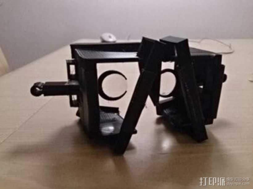 谷歌纸盒 虚拟现实护目镜 3D模型  图1