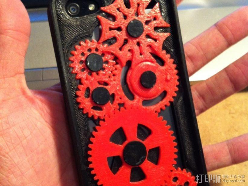 iPhone 5手机齿轮保护壳 3D模型  图1