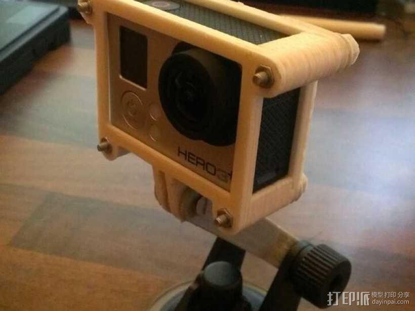 GoPro Hero3/Hero3+ 相机外壳 3D模型  图1