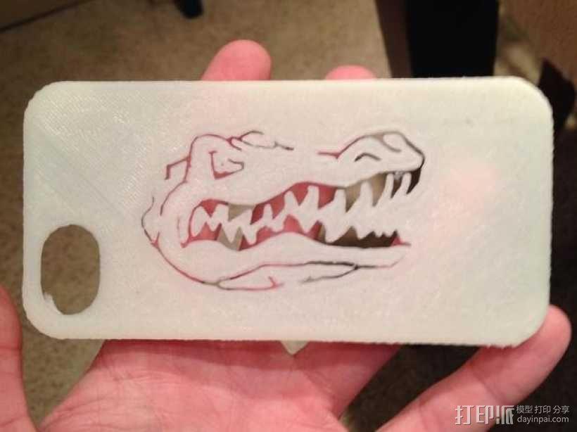 弗罗里达州大学鳄鱼队iPhone5手机外壳 3D模型  图1