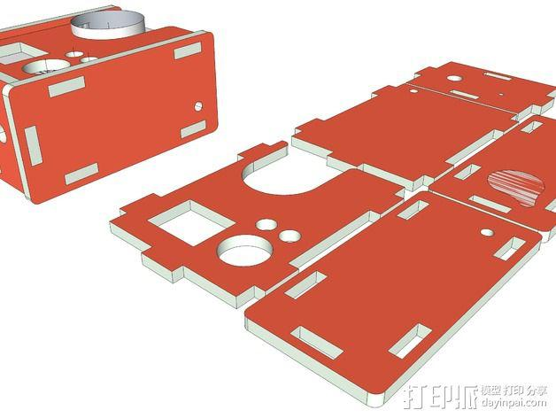 GoPro Hero 3相机外壳 3D模型  图3