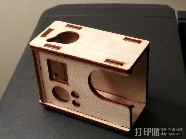 GoPro Hero 3相机外壳 3D模型  图2