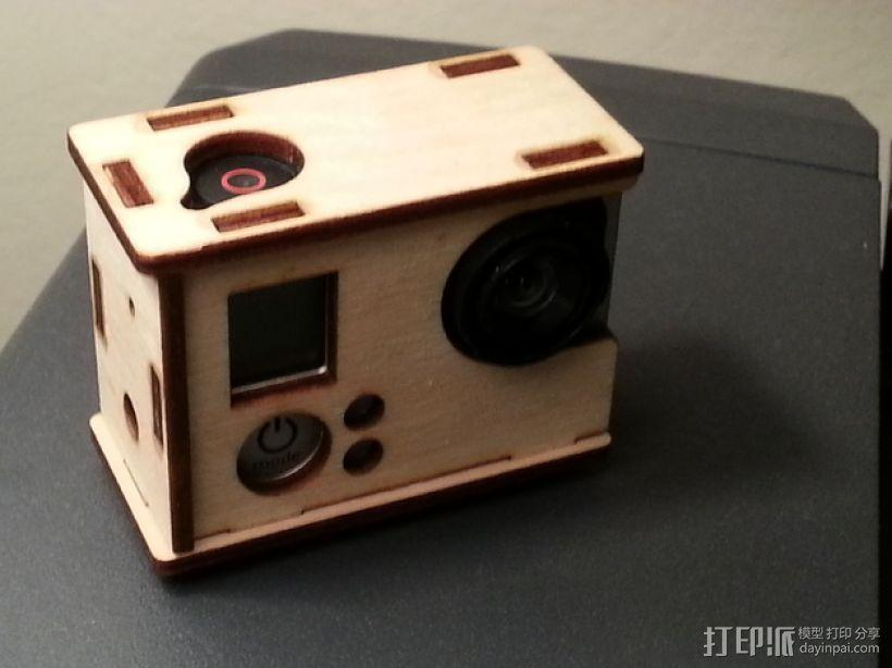 GoPro Hero 3相机外壳 3D模型  图1