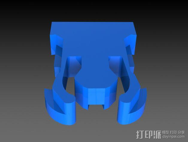 GoPro Hero 3相机底座 固定架 3D模型  图4