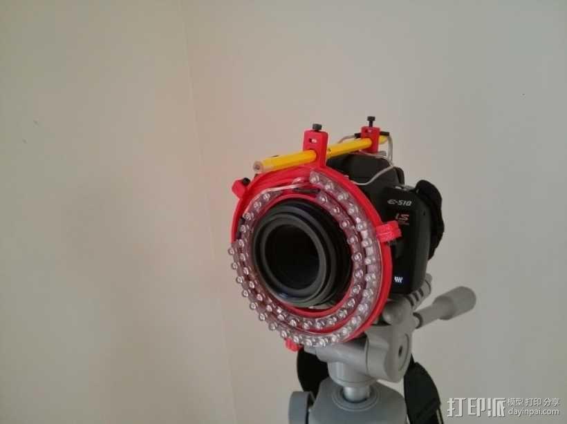 微距摄影机的环形灯 3D模型  图1