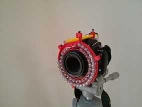 微距摄影机的环形灯 3D模型