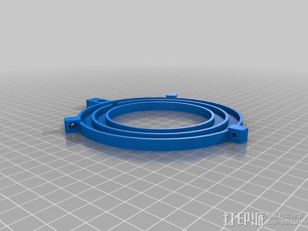 微距摄影机的环形灯 3D模型  图3
