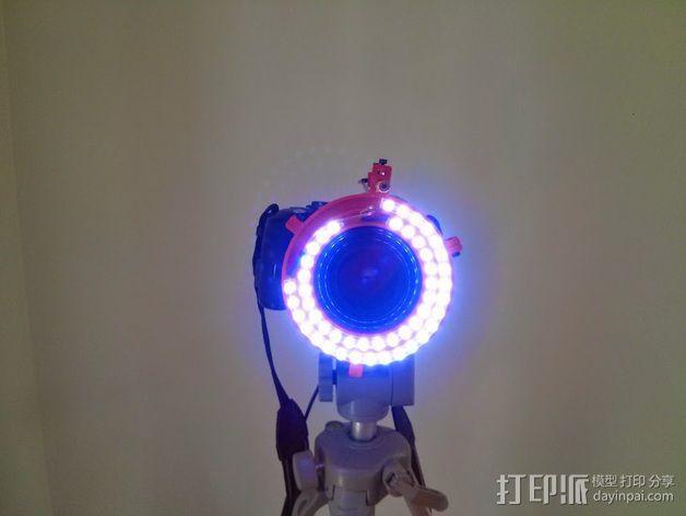 微距摄影机的环形灯 3D模型  图2